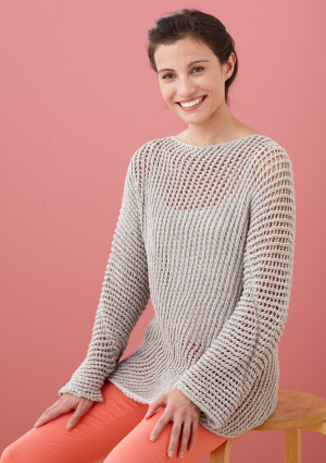 Knitted Mesh Sweater Pattern