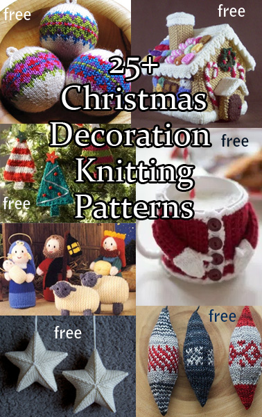 Christmas Decorations Knitting Patterns | In the Loop Knitting