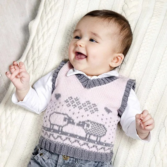 Vests For Babies And Children Knitting Patterns In The