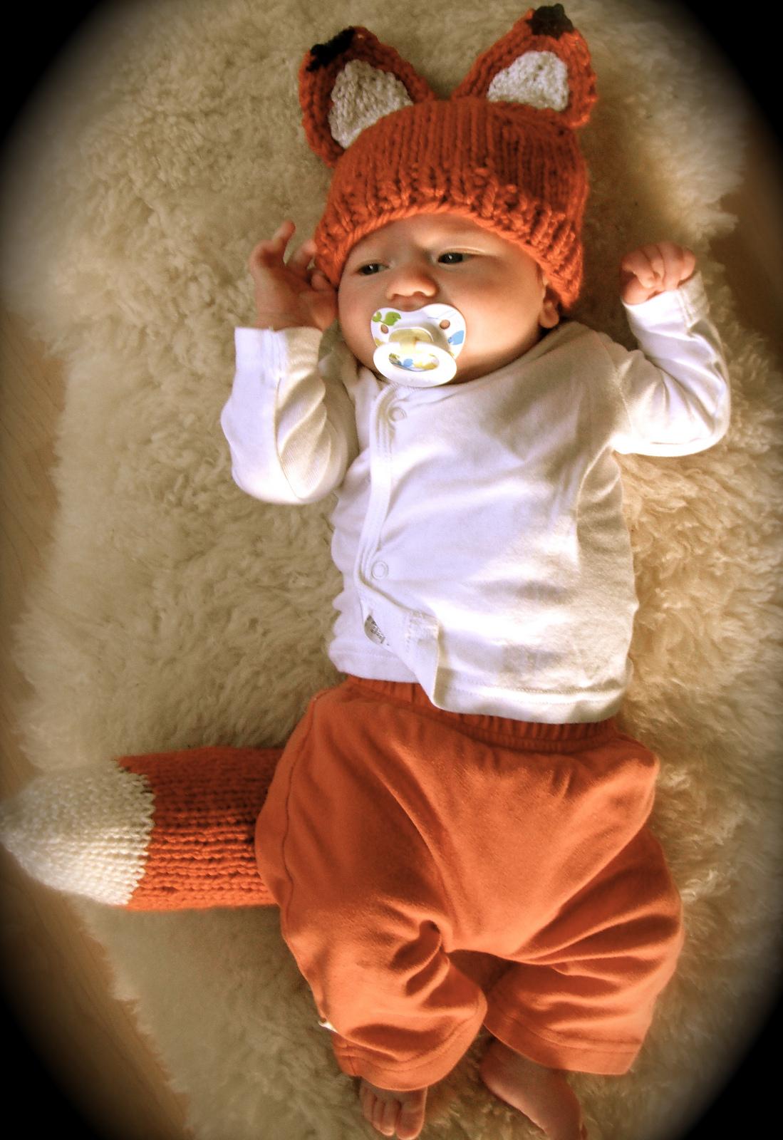 Knit Owl Hat For Newborn