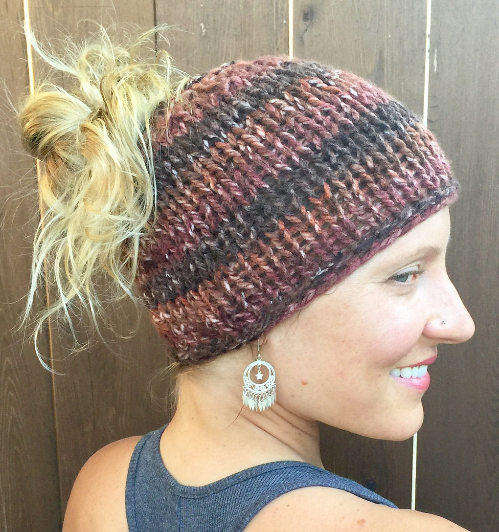 Flat Top Knit Hat Pattern