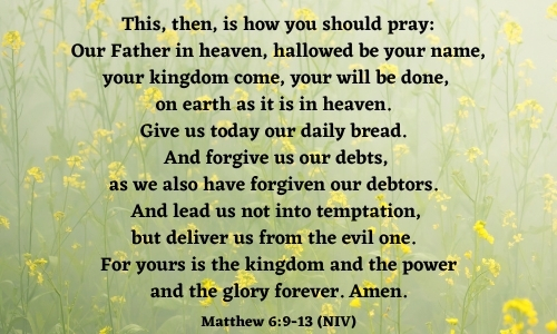 quote of the Lord's Prayer