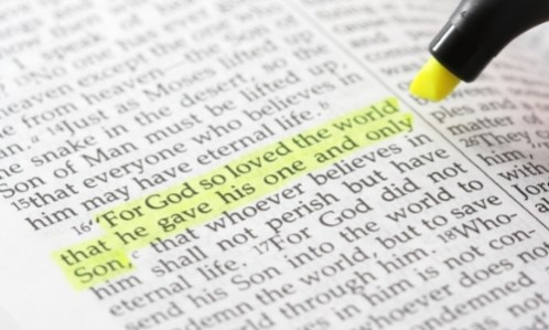 highlighted bible verse