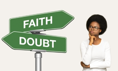 woman questioning her faith