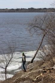 Spaziergang am Flussufer
