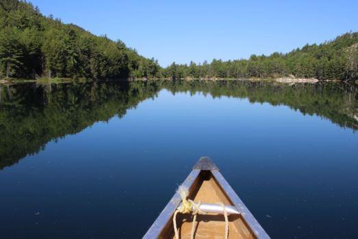 Kanuspitze auf dem Grace Lake