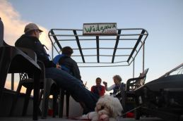 Murray Lake – On the boat with Lilly, Conny, Martin and guests