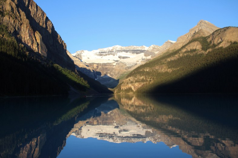 Lake Louise um 7 Uhr morgens