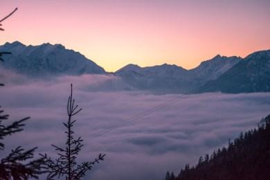 Aussicht aufs Karwendel