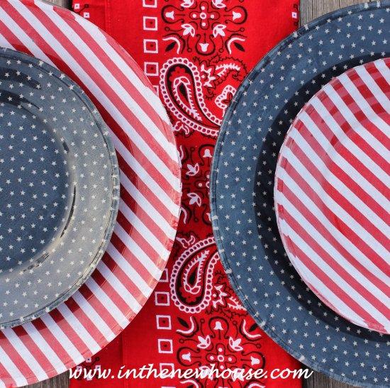 DIY Patriotic Dishes