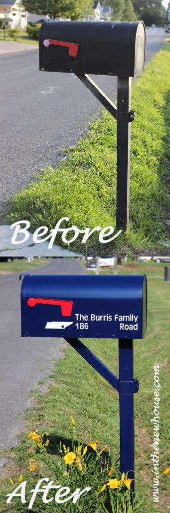 Mailbox makeover pin it