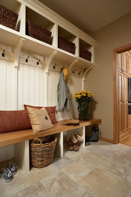 built in mudroom to add character to your home
