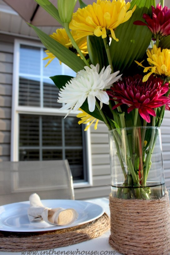 Jute Flower Vase and Placemat