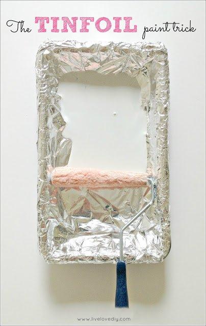 Tin Foil Paint Trick Live Love DIY