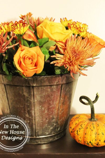 How To Arrange Flowers In A Metal Bucket