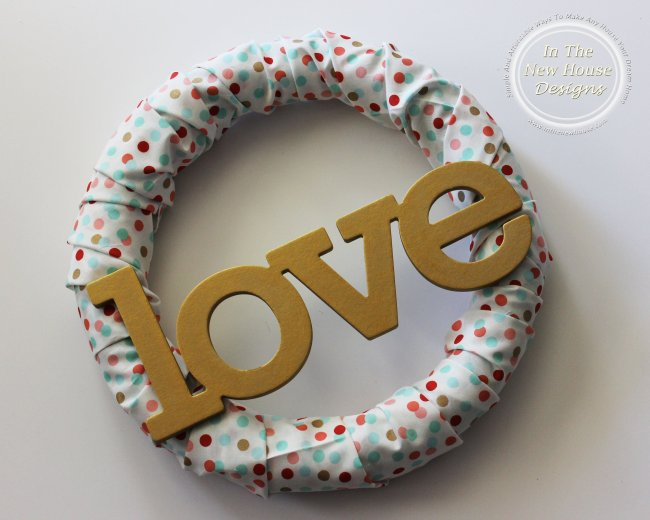 fabric covered foam wreath