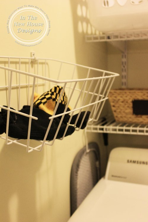 Missing sock basket for laundry closet