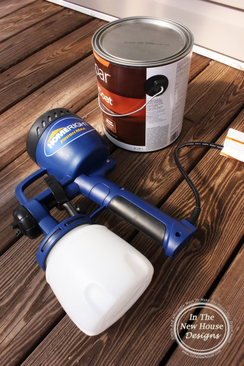 Home Right paint sprayer makes porch painting so much easier and faster