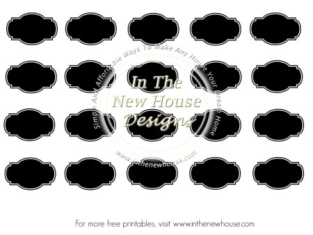 Labels Blank Watermarked