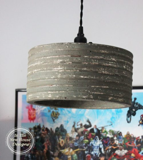Rustic Industrial Pendant Light over kids bed