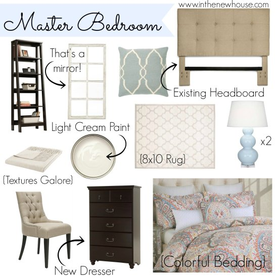 Master Bedroom Idea Board