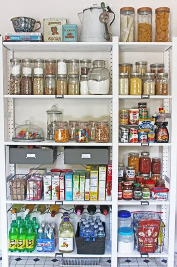 Open Shelving Farmhouse Style Pantry