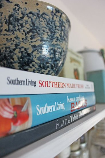 Southern Living Cookbooks and Ceramic Pottery