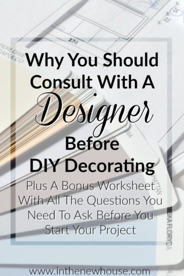 Designers Often Offer Helpful Tips For DIY Decorators At A Much Lower Cost Than Having A Full Project Scope