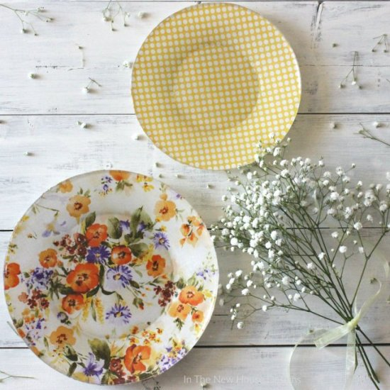 DIY Fabric Lined Dishes with Mod Podge