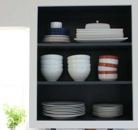 How To Create Open Shelving With Existing Upper Cabinets