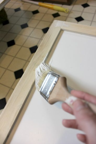 Painting shaker cabinets