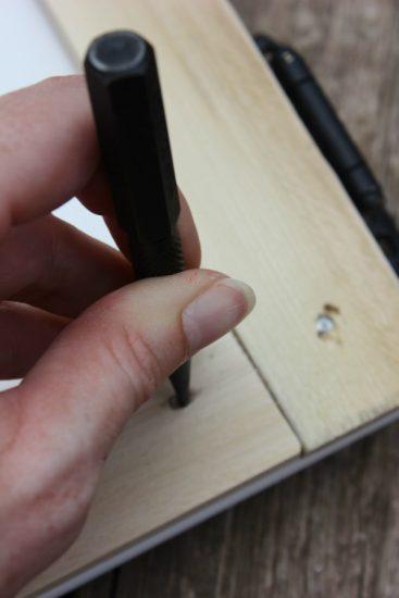 Use a nail set tool to make sure nail heads are not visible