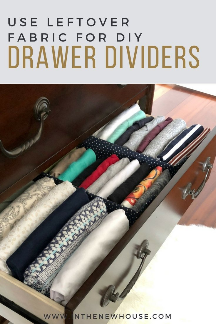 use leftover fabric and a surprise recycled item to make these drawer dividers for no cost at all