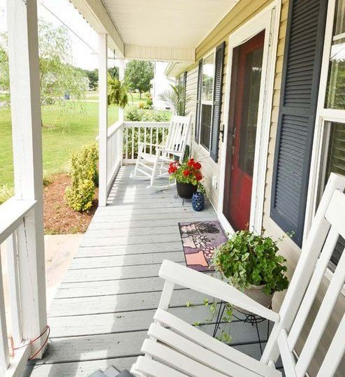 how to clean front porch for summer