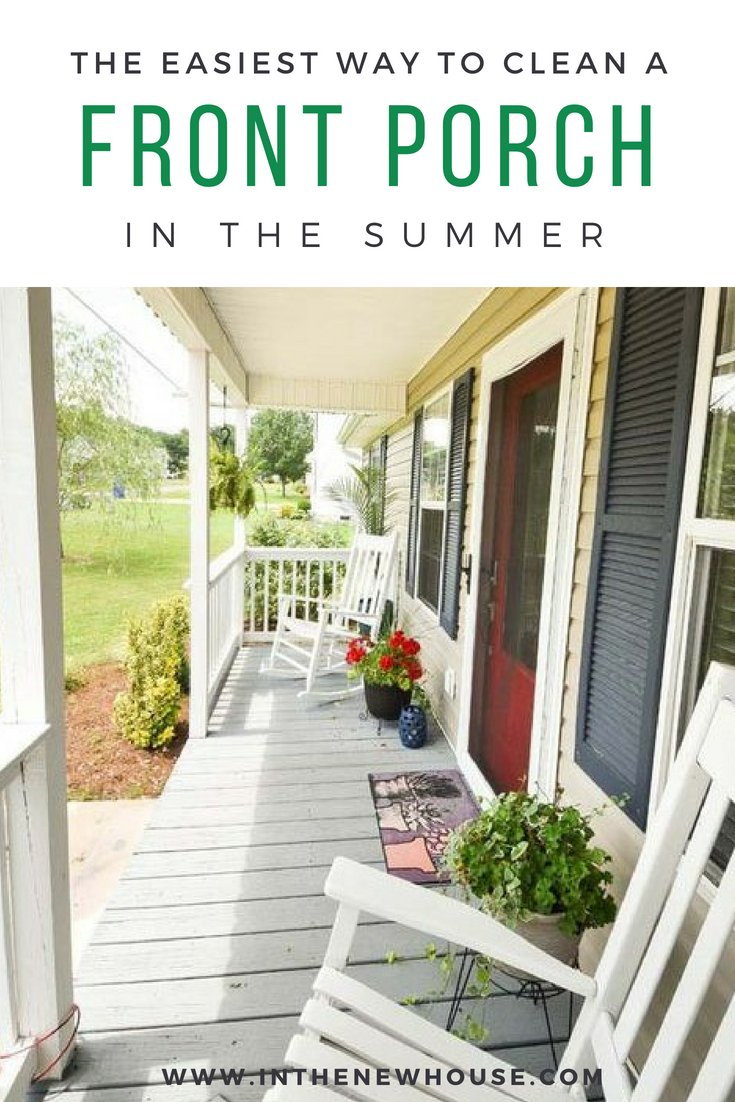how to clean your front porch the easy way this summer