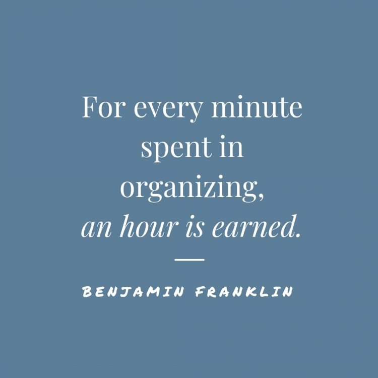 quotes about staying organized