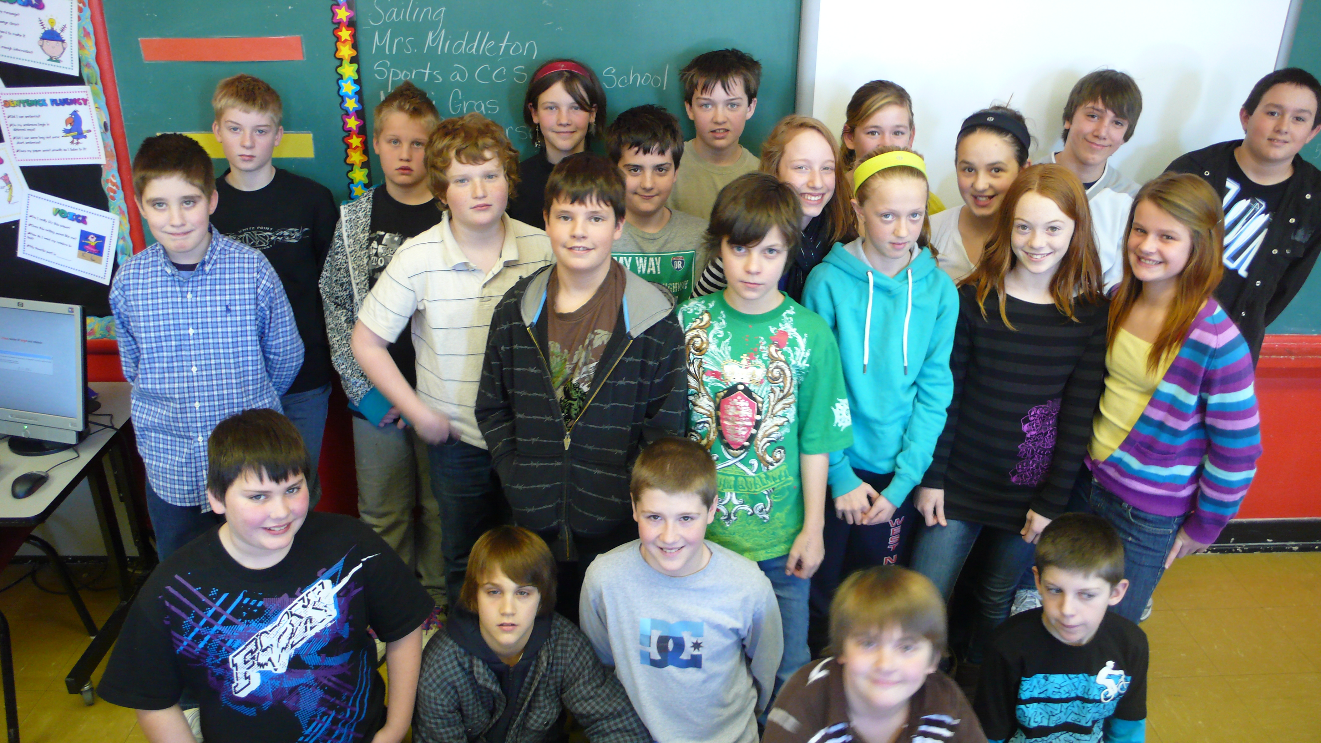 Mrs Hunt S Grade 6 Class At Centre Consolidated Publishes