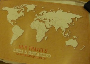 paper themes world map