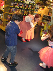 playing party games in hamleys