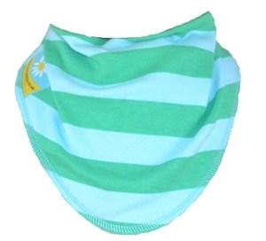 baby dribble bib cornish daisy coastal stripes