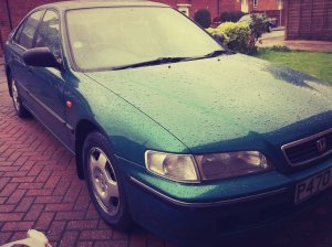 beloved car honda accord in green p reg