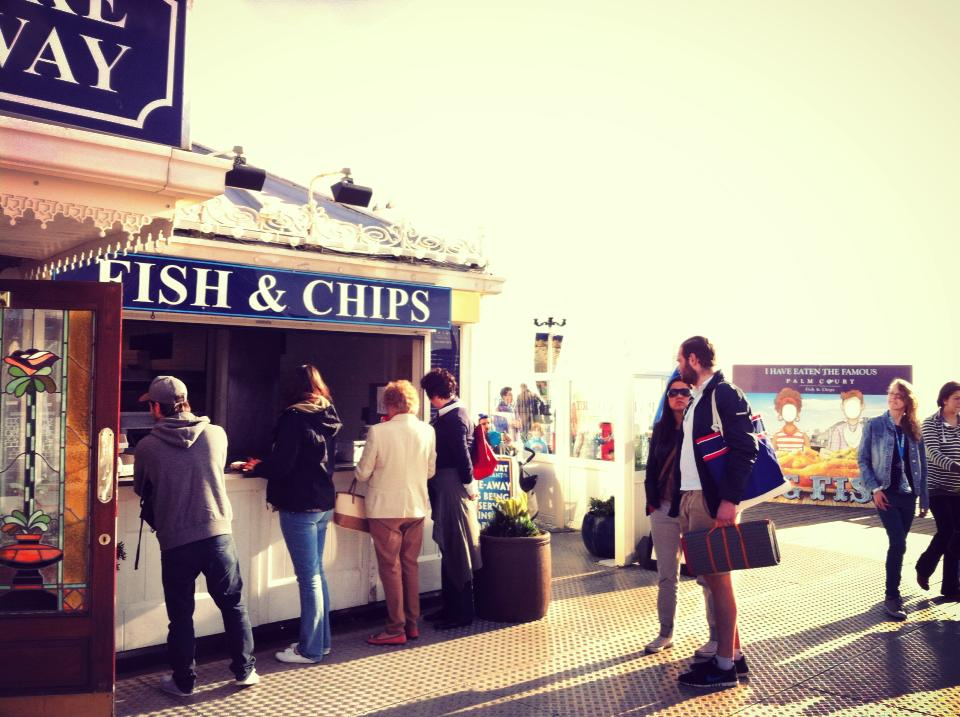 fish and chip shop on brighton pier
