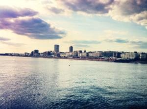 beautiful picture of brighton seafront taken in june clouds, sea, skyline