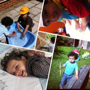family photos collage