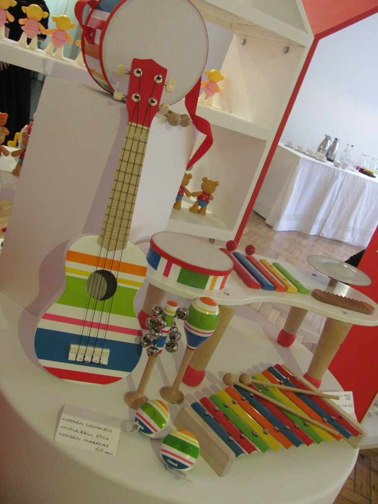rainbow wooden musical instruments