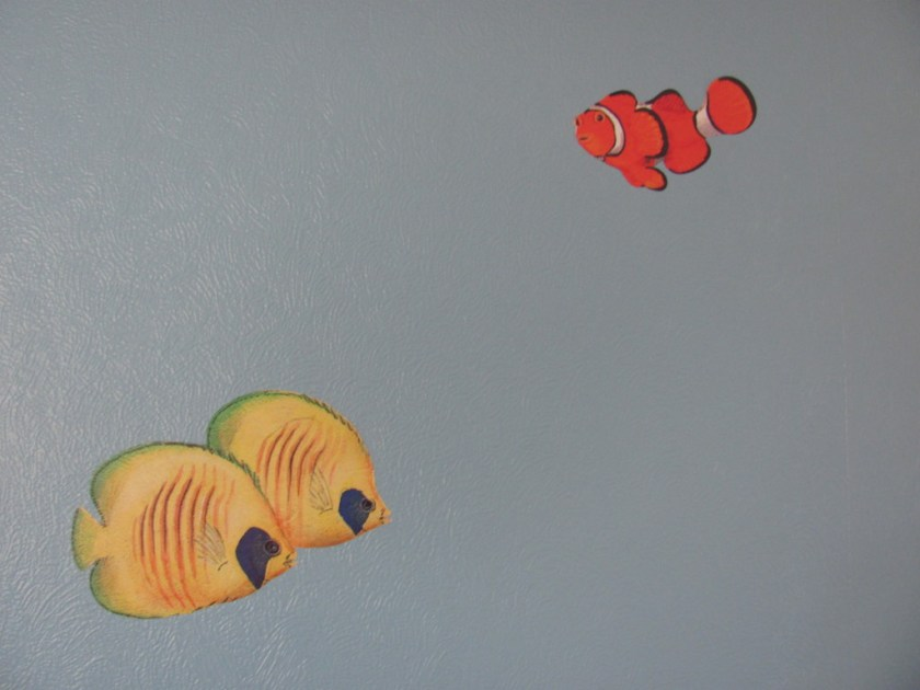 angel fish and clown fish wall stickers