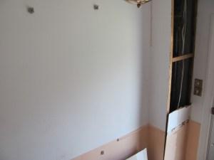 damaged enterance wall