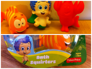 bubble guppies bath squirters