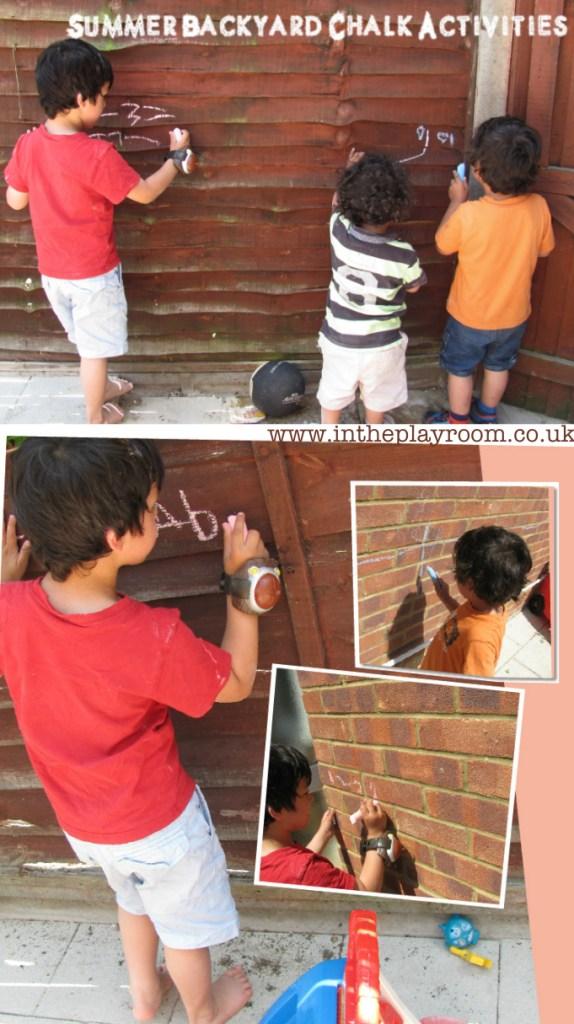Summer chalk activities for the garden with sidewalk chalk