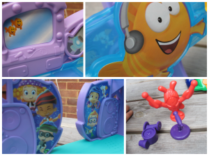 Lots of fun details on the bubble guppies rock and roll stage